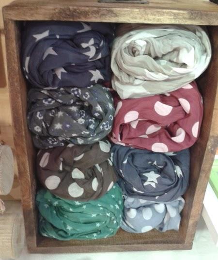 Fulares mitad algodón-seda, lunares, topos, estrellas