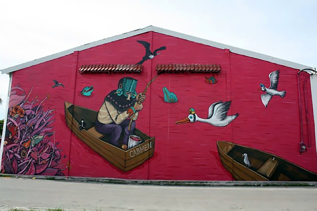 Street Art By Saner In Ciudad Del Carmen, Mexico. 2