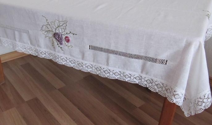 Creativarte deshilados mantel de lino - Manteles de lino ...