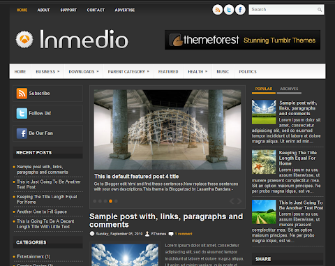 Inmedio Blogger Theme