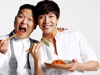 Psy and Lee Seung Gi Laughing HD Wallpaper