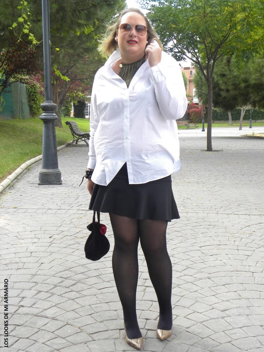 camisa blanca  u00b7 look y gu u00eda de compras   talla grande    u00b7 looks talla grande