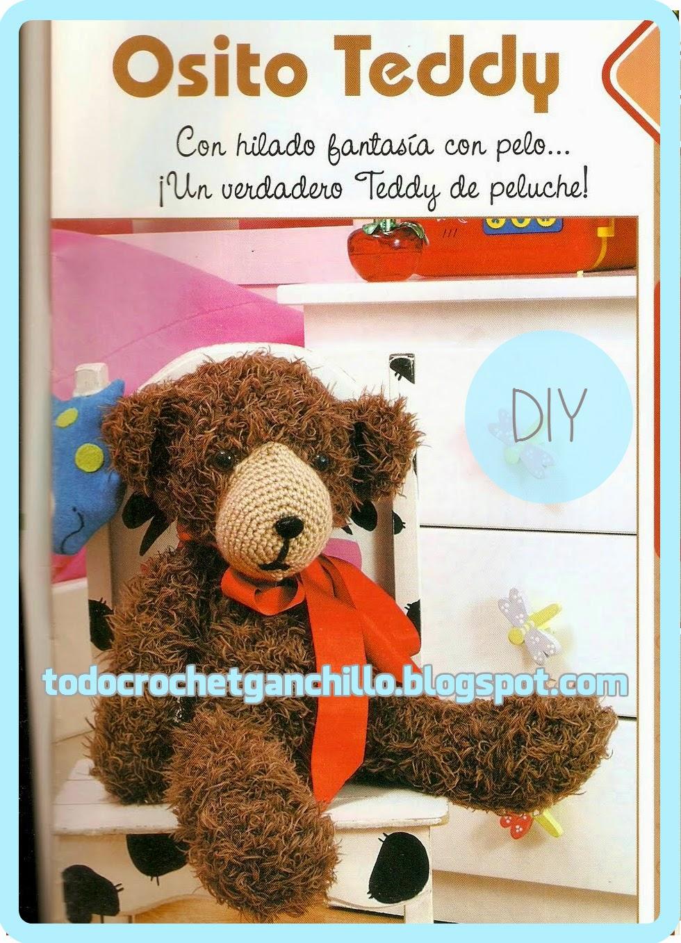 Osito Teddy tejido con ganchillo - explicación en Español