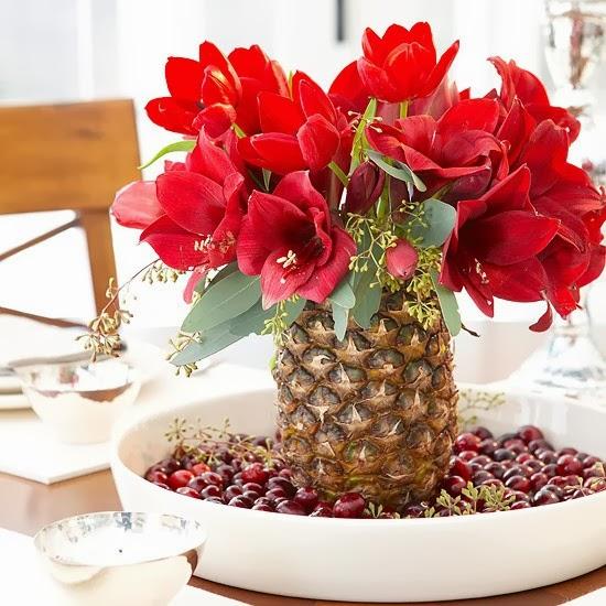 dekoratif yılbaşı çiçekleri