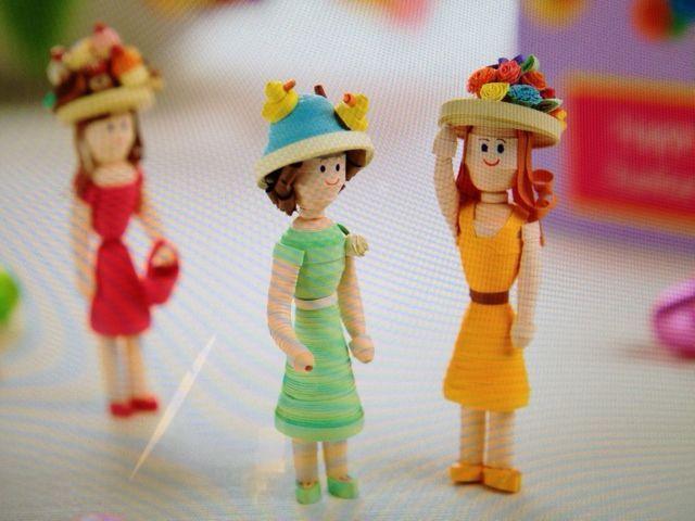 3d quilling dolls