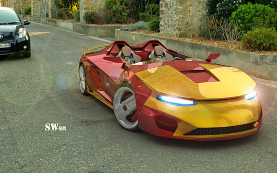 Beautiful Iron Man Designed Car Via Thedesigninspiration.com Link Of Image:  Http://thedesigninspiration.com/articles/awesome Iron Man Sports Car/