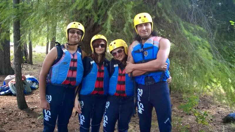 Best Rafting experience, Indian family outings in USA, Things to do near Seattle, people dressed in wet suits, life jackets and helmets
