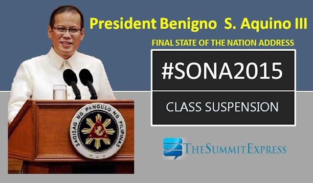 SONA 2015: List of class suspensions for July 27