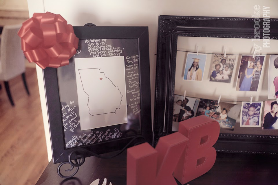 framed signature gift - UGA map