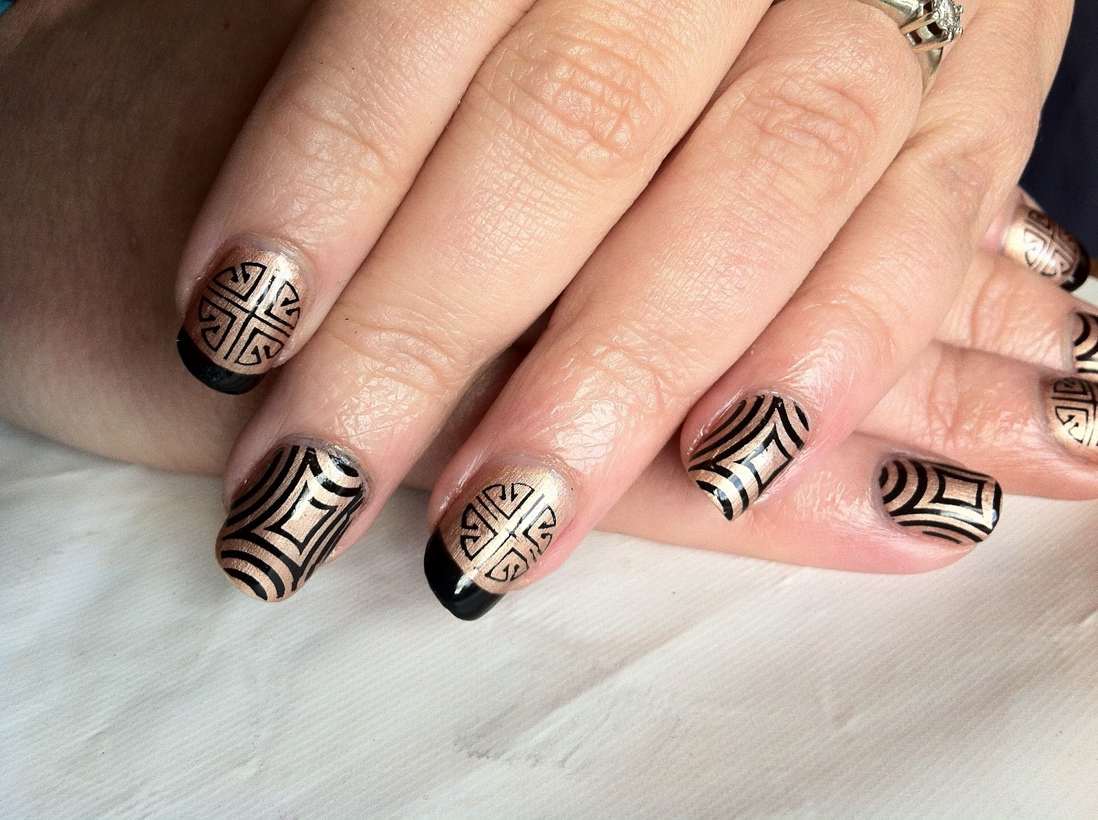 Brush up and polish up cnd shellac nail art iced cappuccino cnd shellac nail art iced cappuccino and konad stamping prinsesfo Images
