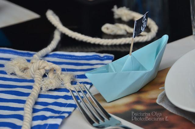 Оформление дня рождения в морском стиле своими руками