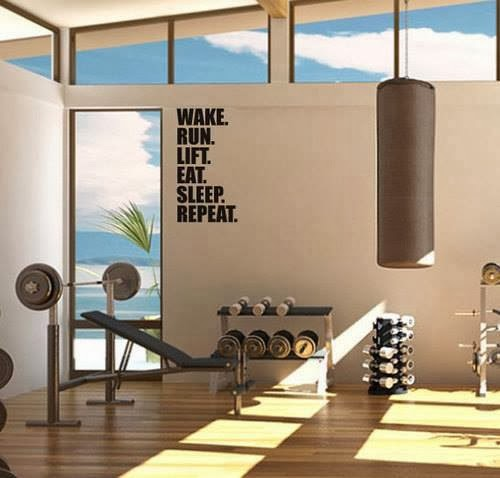 Wall Art For A Home Gym : Stay fit in your own home