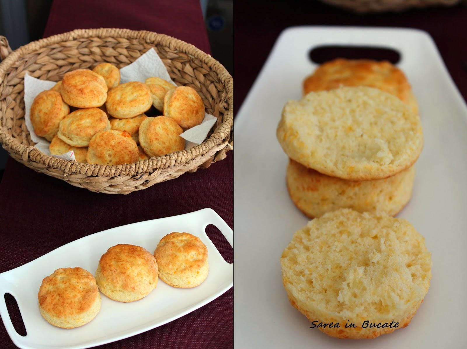 biscuiti englezesti cu cascaval cheddar/ cheddar cheese scones