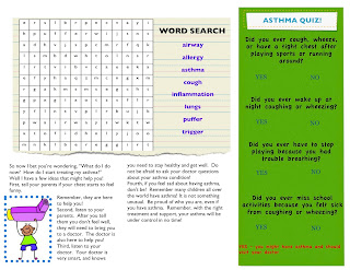 Asthma Awareness For Adults And Children A Childs Guide To Asthma - Asthma brochure template