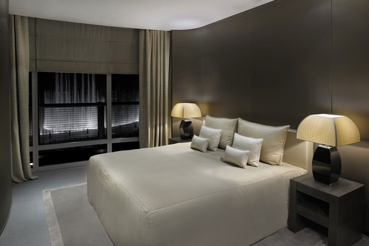 Bedroom in Armani Burj Khalifa Hotel Dubai