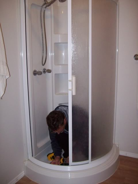 Mike and Lisa s World  Chapter 95   Re Installing A Corner Shower