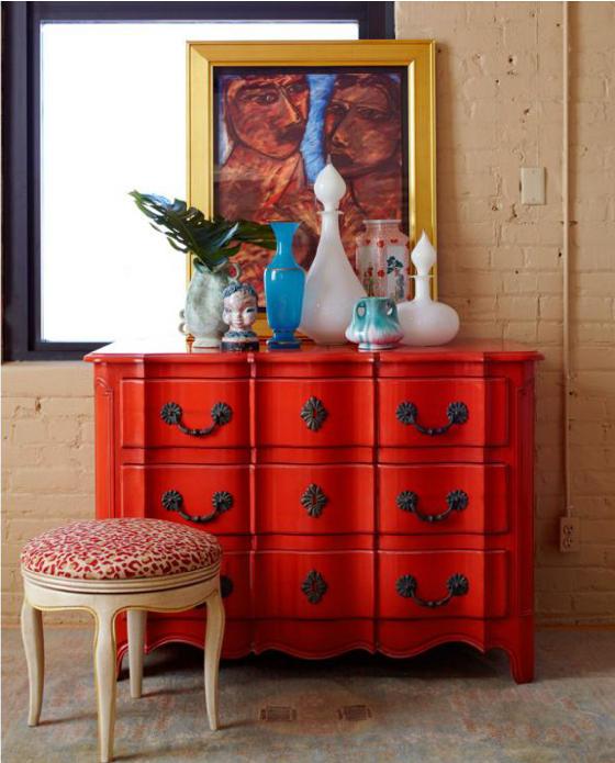 Inspiraci n decorando en rojo o una de c modas bonitas decorating with red vintage - Comodas pintadas ...