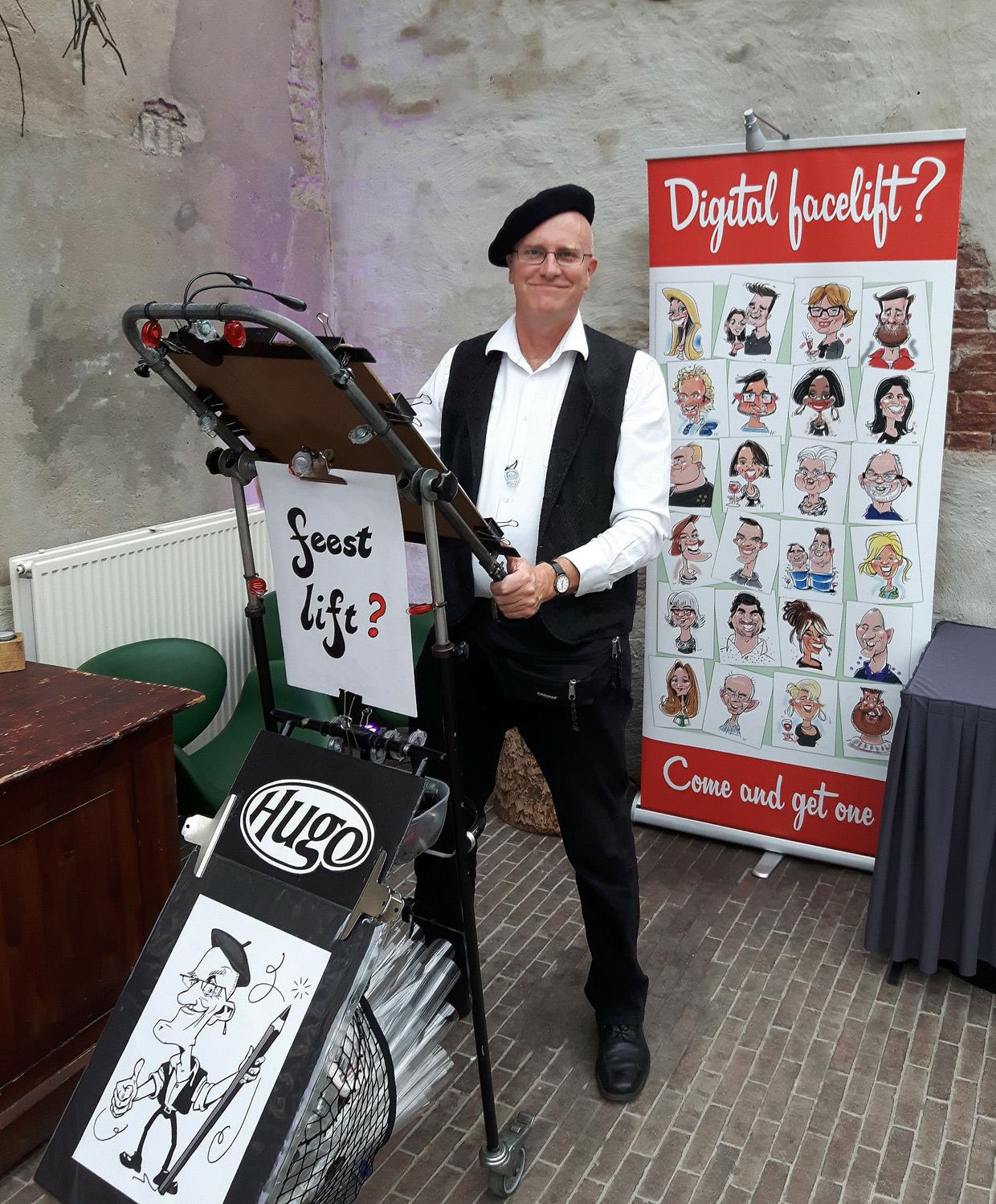 sneltekenaar, karikaturist Hugo Freutel