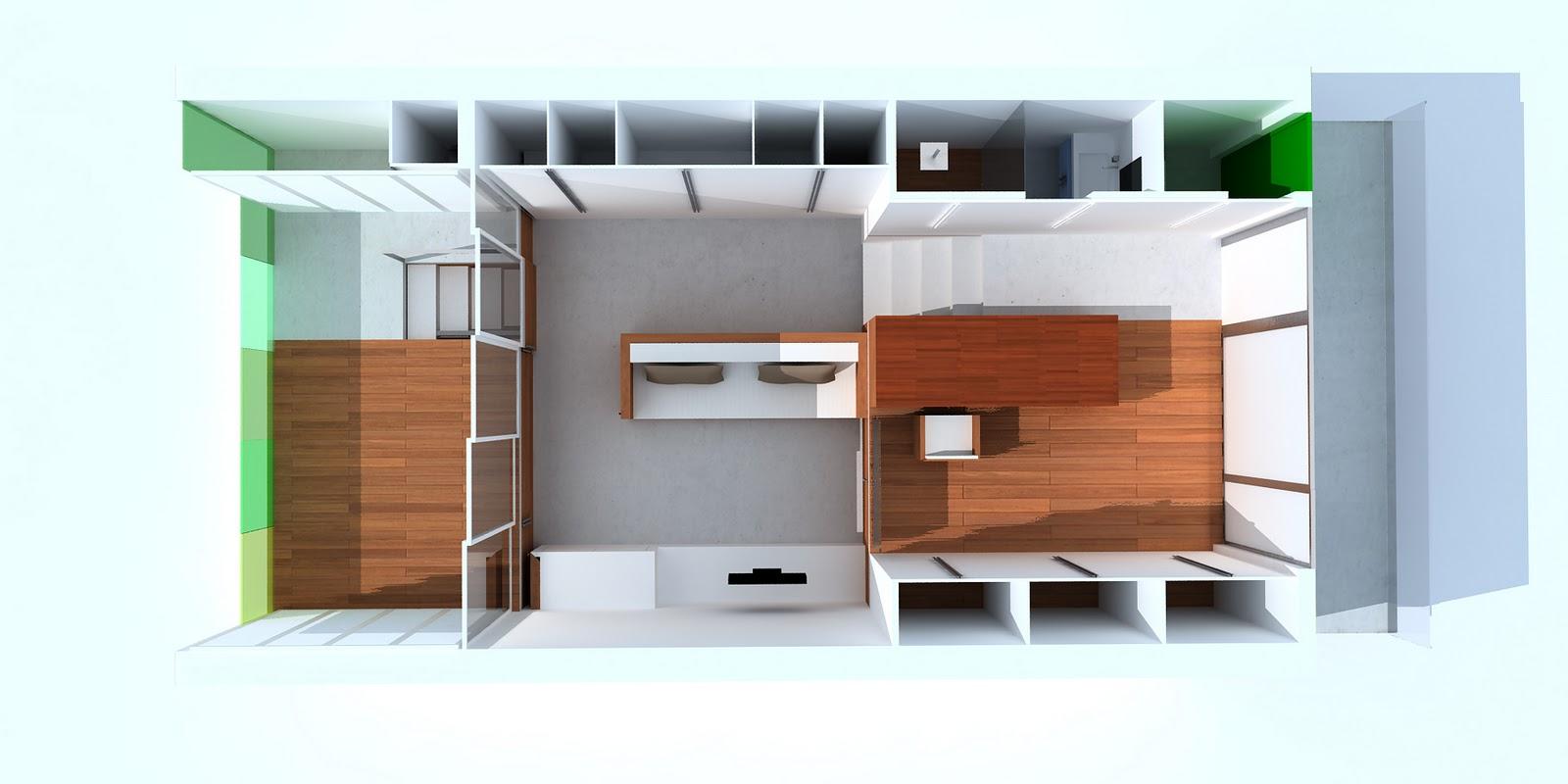 Estudio zep estudiar viviendo premio valencia en ix for Decoracion de casas de 36 metros cuadrados