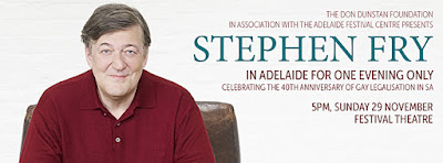 stephen fry in adelaide for one evening only