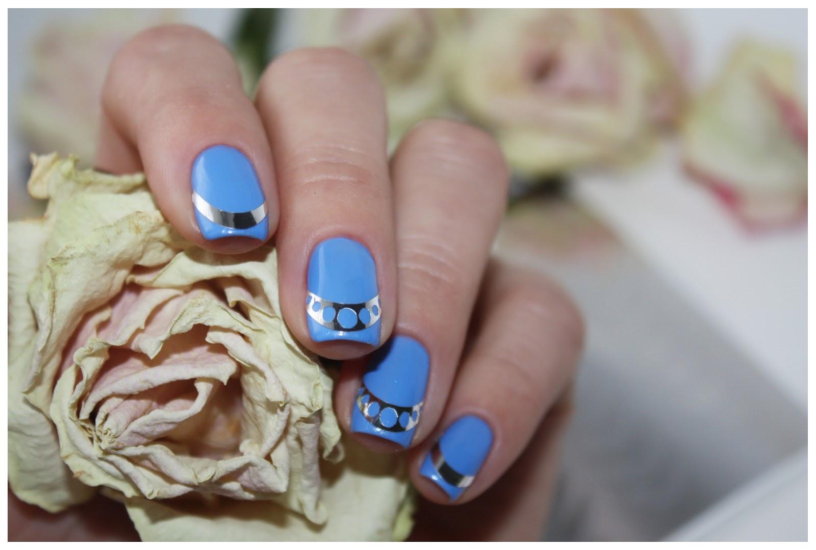 Металлизированные наклейки на ногти дизайн