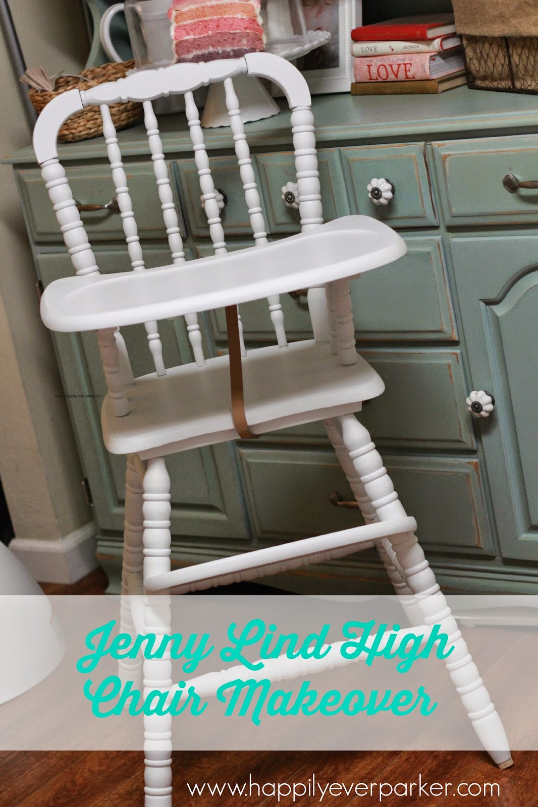 Happily ever parker 1980s jenny lind high chair makeover