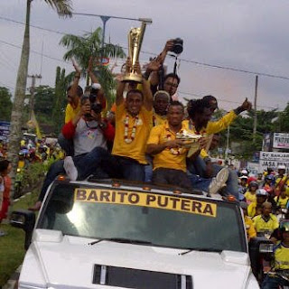 Pawai Barito Putera Juara