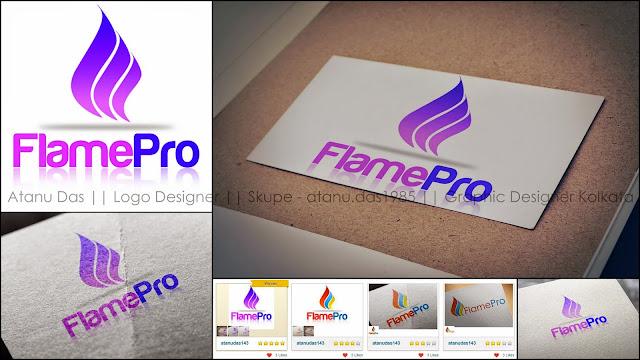 FlamePro Logo Design - gas servicing company australia Logo