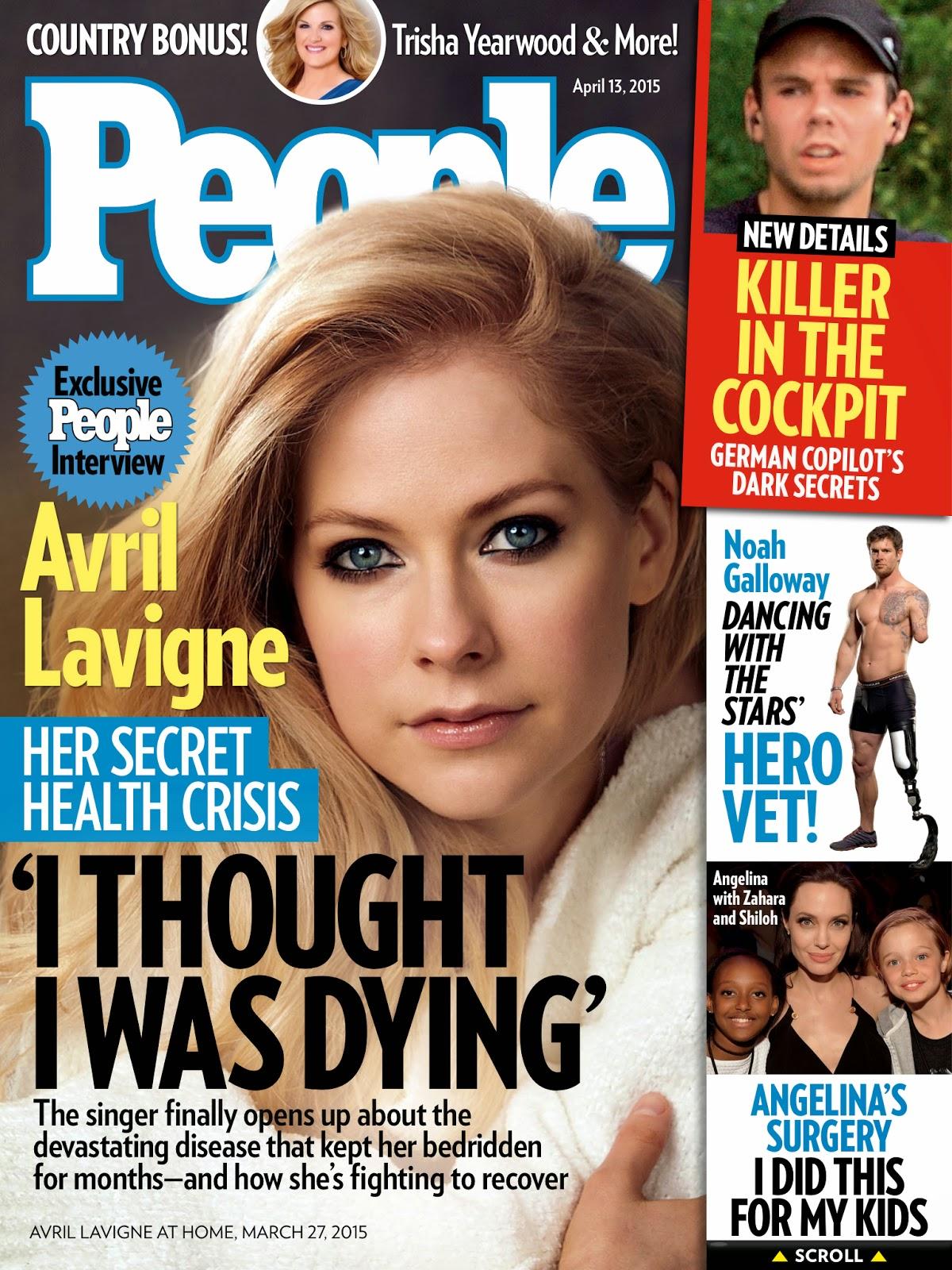 Singer-songwriter @ Avril Lavigne - People Scans April 2015