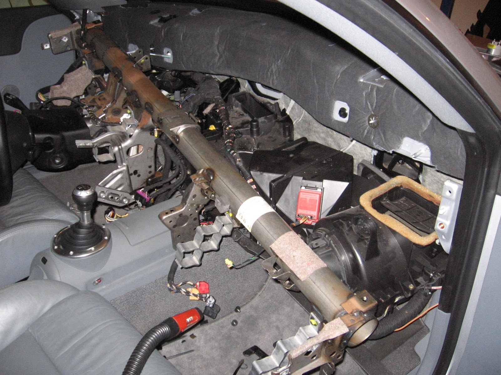 Electric Audi Tt Coupe Under Hood Fuse Box The Heater Core Slides Down Into Black Square In Center Of Photo Below