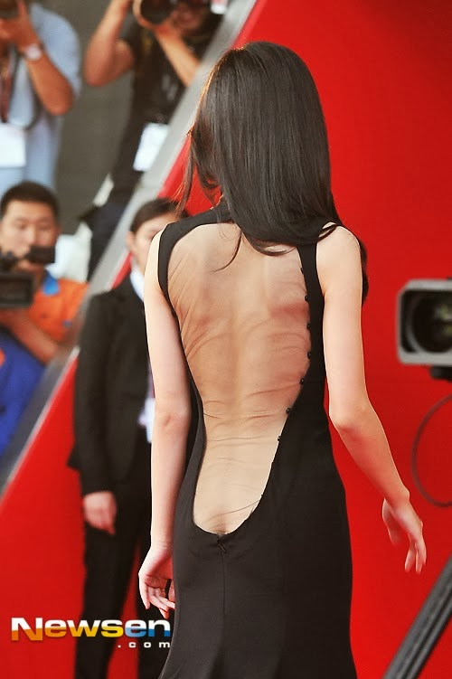 Actress Kang Hanna (강한나) at the 18th Busan ​​International Film Festival (BIFF 2013), opening ceremony
