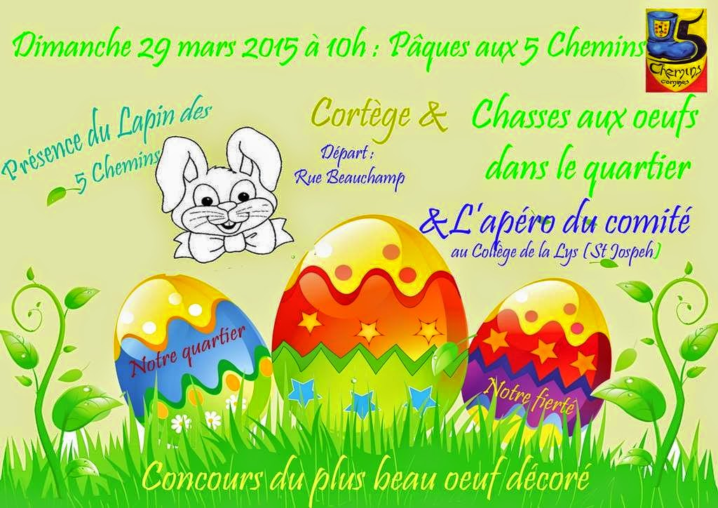 29 MARS 5 CHEMINS CHASSE AUX OEUFS