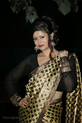Anchor Shila Chakravarthy latest black saree Photos-thumbnail-18