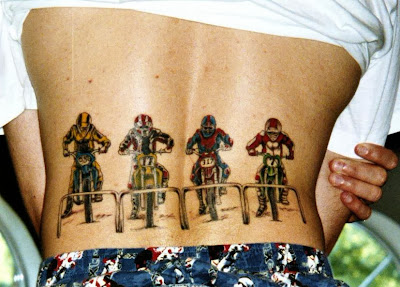 Motorcycle Biker Race Tattoo