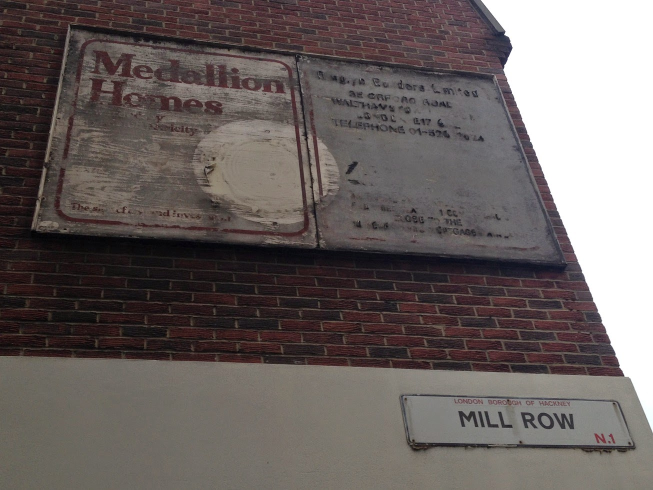 Ghost sign, Hoxton, London N1