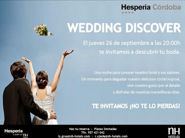 Novias de Córdoba y Barcelona ¡esta semana tenéis eventazo!