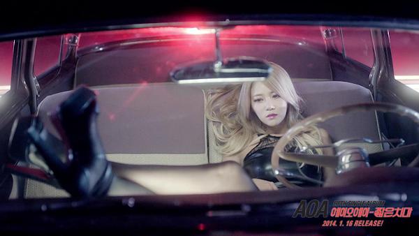 AOA Miniskirt Yuna teaser