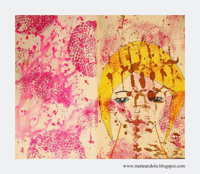art journal mini muñeca