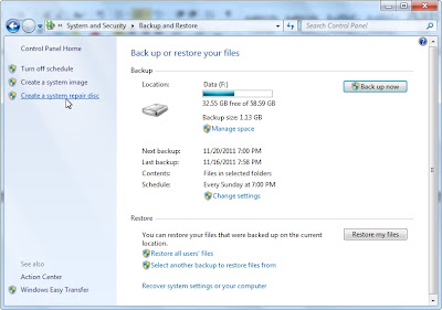 Cara Backup Data System Windows Dengan Membuat