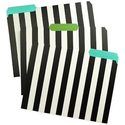 striped file folders