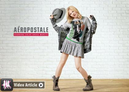 Chloë Grace Moretz Debuts as Aéropostale's First Brand Ambassador » Gossip | Chloë Grace Moretz