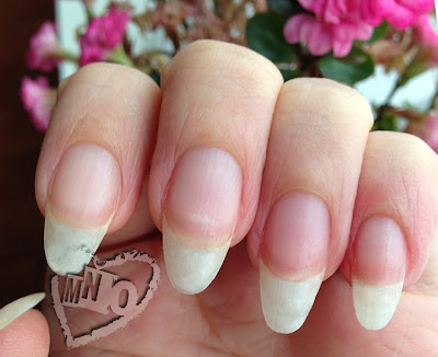 how to shape Stilleto Almond shape natural nails