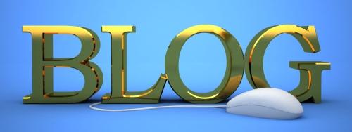 Blog com letras douradas