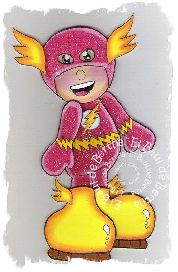 Mujer Maravilla, Capitán América, Linterna Verde y Flash Fofuchos Planos en Foamy Fofucho%2BFlash2