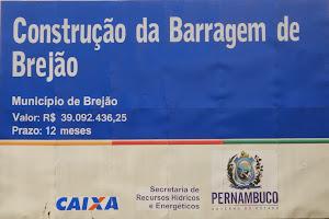 Construção da Barragem de Brejão.