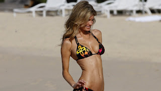 Marisa miller in black bra and penty