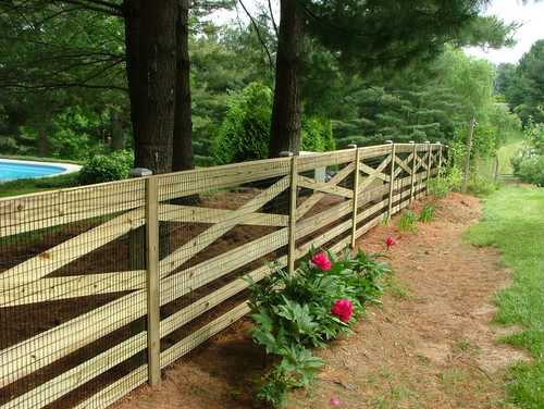 Two men and a little farm fence styles for the garden Wood garden fence designs