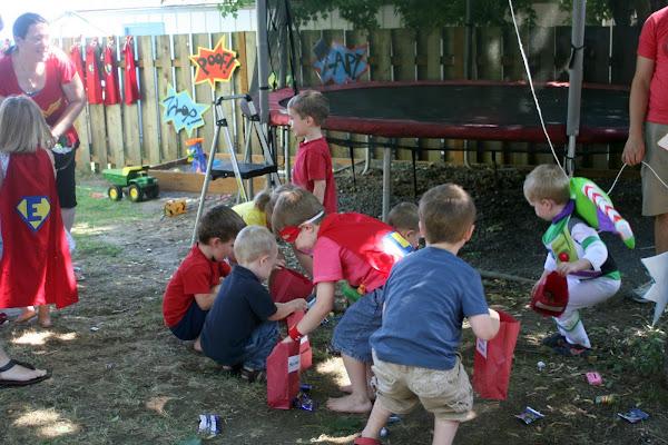 superhero party pinata game activity