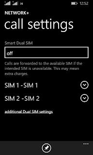 Nokia Lumia 530 Smart Dual SIM settings