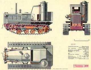 Гусеничный трактор ХТЗ-Т2Г. Газогенераторный трактор.